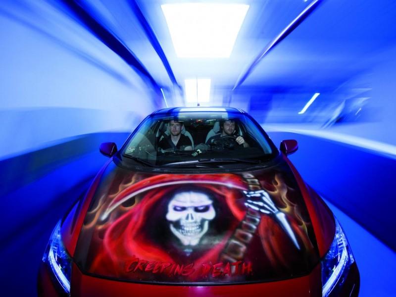 Honda pintado de coche Metallica
