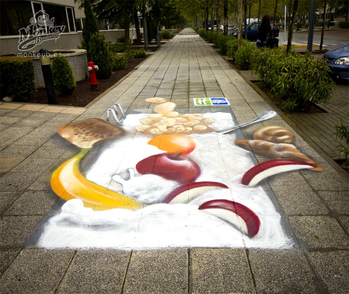 Graffiti para eventos team building shows actividades - Pintura de suelos ...