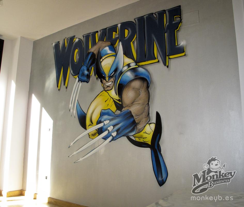 Wolverine mural graffiti