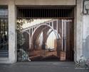 graffitipara comunidad de vcinos en la celle segovia con el famoso puente de Segovia