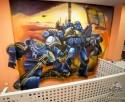 generacionx bernabeu graffiti space marines mural warhammer 40k
