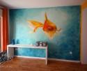 mural interior pez monkeyb graffiti decoracion agua