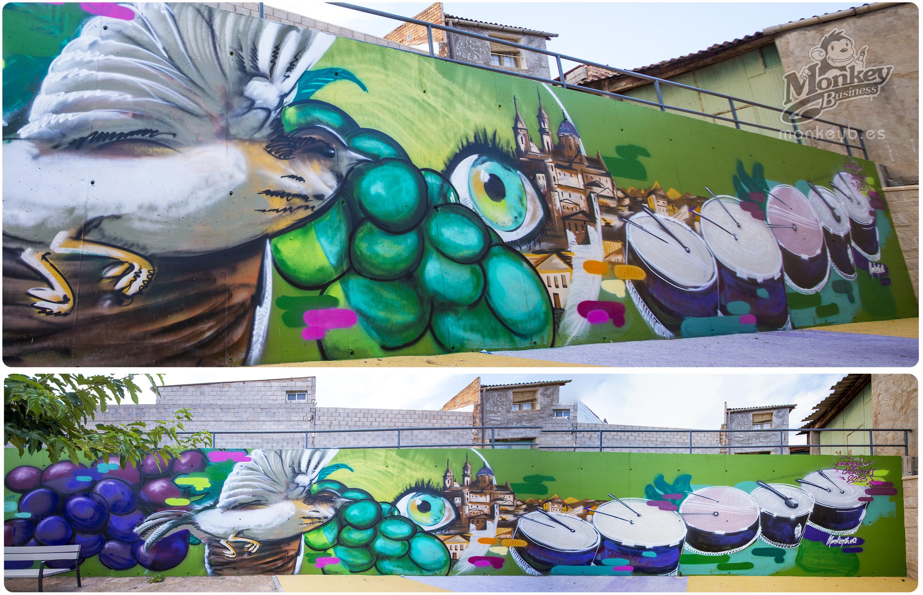 Pintado en Vivo en las fiestas de Samper de Calanda - Monkeyb Murales 58bf349fefa