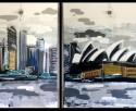 Skyline graffiti pintura