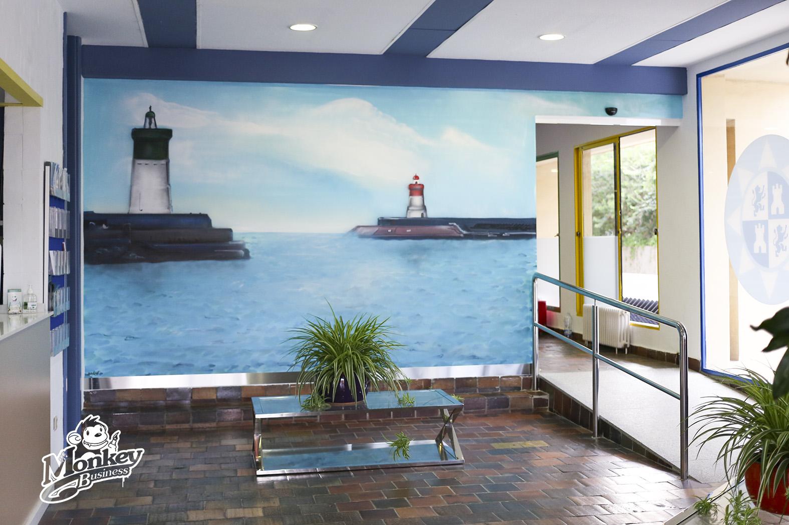 Murales interiores graffiti y decoraci n for Colores para pintar puertas de interior